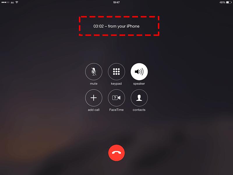 iPhone-電話転送-iPad