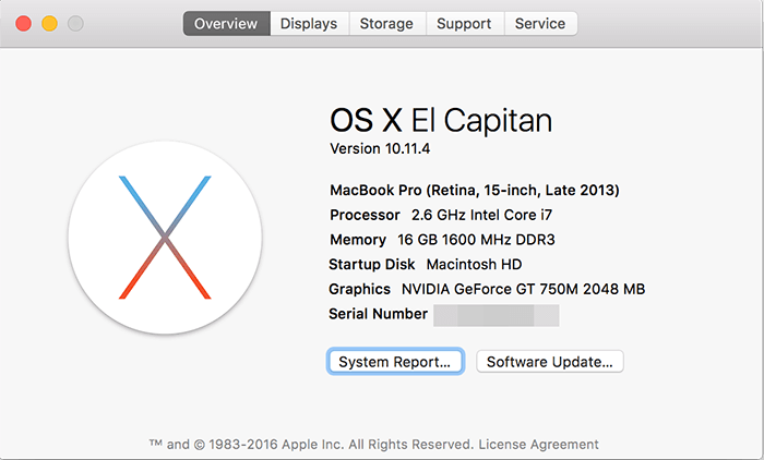 OS X Elcapitain 1