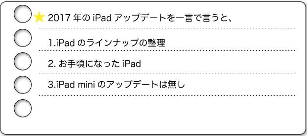 2017iPad アップデート