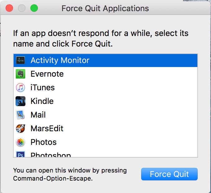 Macのアプリを強制終了させる3つの方法1 2