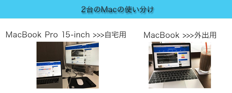 2台のMacの使い分け