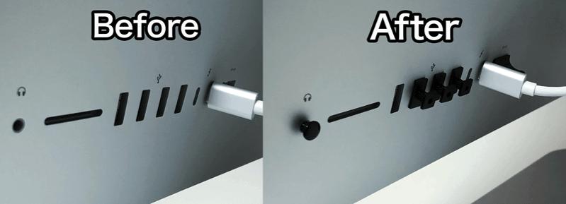IMacや液晶のコネクタを保護してホコリやサビから守る 4